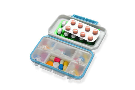 pill box: Pills in pill box
