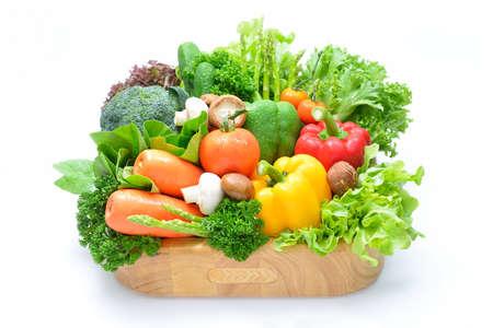 ovoce a zelenina na bílém pozadí
