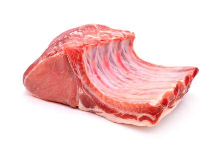 pork rib: Raw pork isolated on white background
