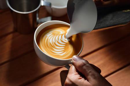 Making of Cafe Latte artLeaf Form