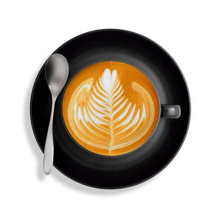 latte art: Latte art  coffee isolated on white background