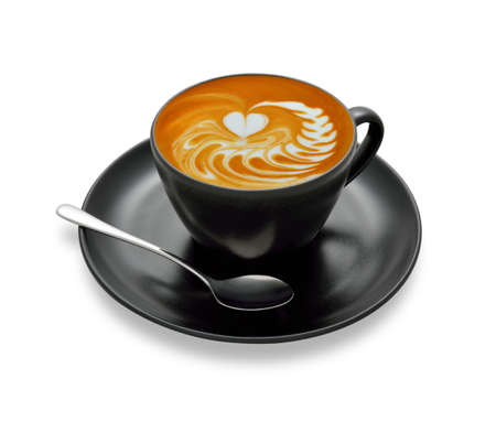 latte art: Latte art  coffee isolate on white background