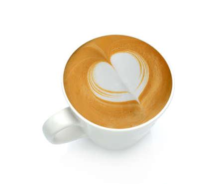 latte art: Latte Art, coffee isolated on white background