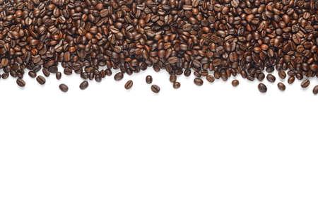 Koffiebonen op witte achtergrond worden geïsoleerd die Stockfoto - 50024542