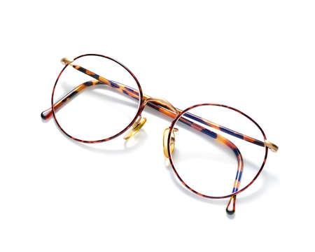 round glasses: Round tortoise frame eyeglasses isolated on white background