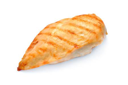 Grillowana pierś z kurczaka na białym tle