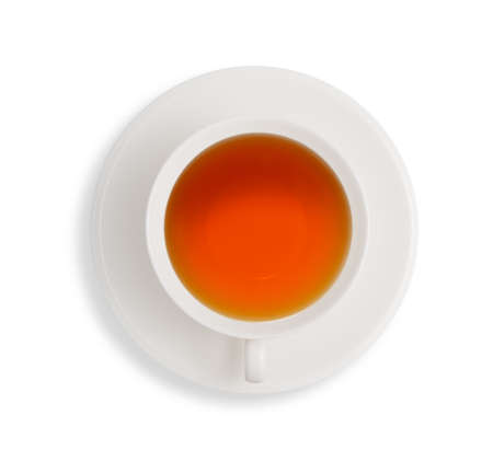 cup of tea: Cup of tea isolated on white background