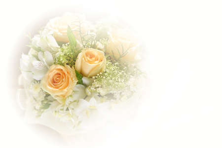 Beautiful bouquet of flowers made with color filters Stock Photo