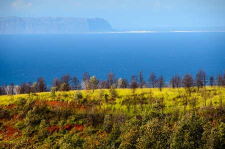 horizont: West coast of Kauai with Niihau island on the horizont