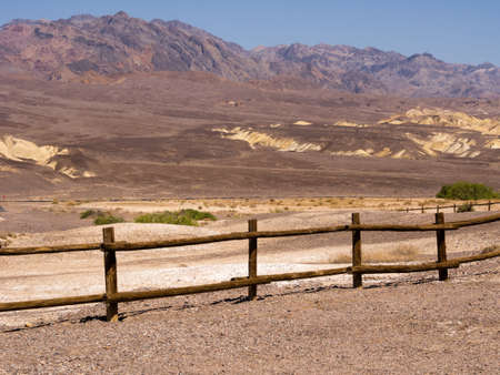 Wooden fence in Death Valley Stock Photo