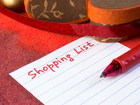 휴일 쇼핑 목록
