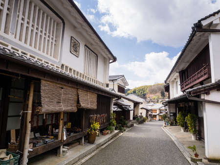Traditional Japanese merchant houses in Uchiko town, Ehime prefecture, Japan