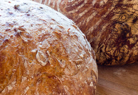 french boule: Round french bread Stock Photo