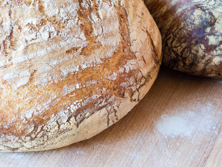 french boule: Round french boule bread
