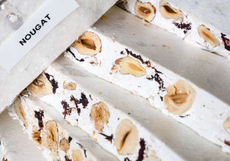 nougat: Packaged homemade nougat with nuts and berries
