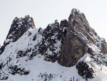 liberty bell: Liberty Bell Mountain in North Cascades National Park