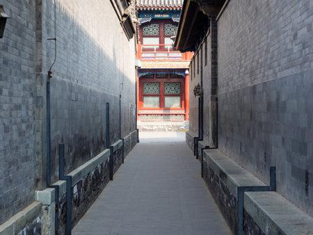 Narrow alley in Prince Gong palace Redakční