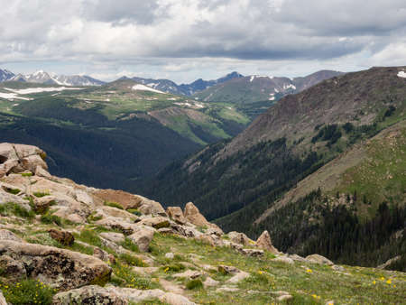 rocky mountain national park: Rocky mountain national park, views from trail ridge road Stock Photo
