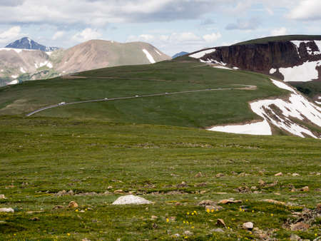 rocky mountain national park: Views from Trail Ridge Road in Rocky Mountain National Park, USA Stock Photo