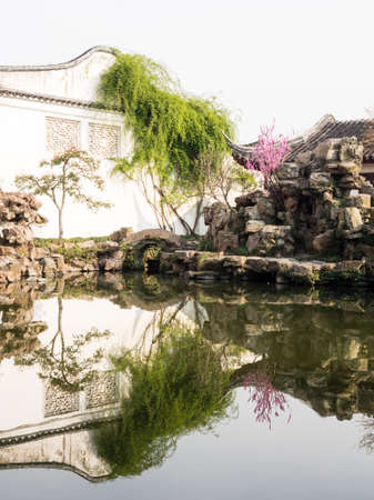 Suzhou, China - March 21, 2016: Master of the Nets Garden in springtime