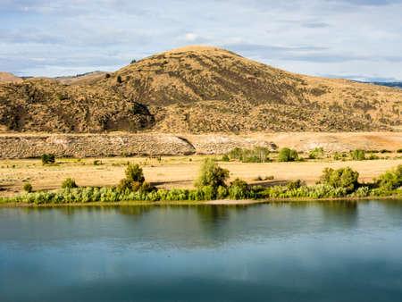 Scenic and wild Flathead river near Perma, Montana, USA