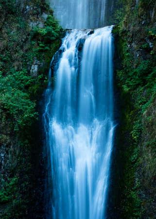 Close up of Multnomah Falls in Columbia River Gorge, Oregon, USA Stock Photo