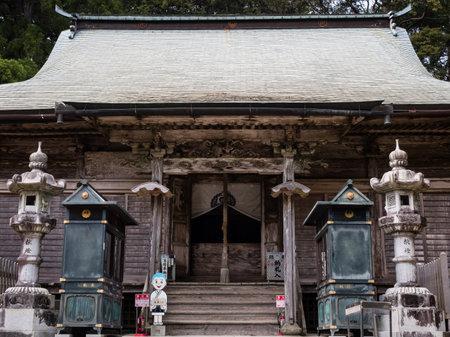 Tokushima, Japan - April 4, 2018: Main hall of Kakurinji, temple number 20 of Shikoku pilgrimage Editorial