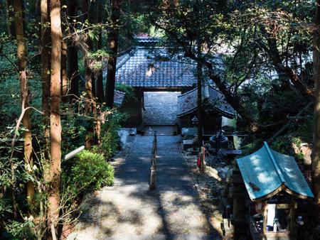 Tosa, Kochi Prefecture, Japan - April 7, 2018: The gate of Shoryuji, temple number 36 of Shikoku pilgrimage Editorial