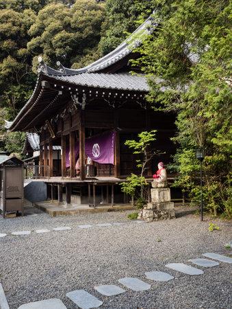 Matsuyama, Ehime prefecture, Japan - April 10, 2018: On the grounds of Hantaji, temple number 50 of Shikoku pilgrimage