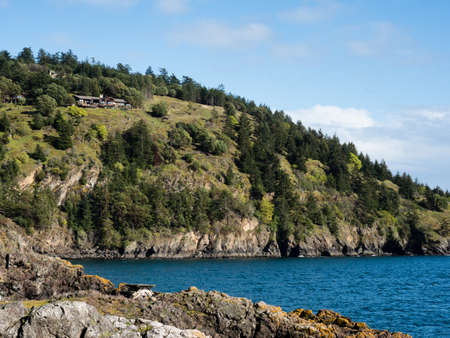 Coastal scenery at Lime Kiln Point State Park, San Juan Island - WA, USA Reklamní fotografie