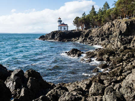 Lighthouse at Lime Kiln Point State Park on San Juan Island - WA, USA