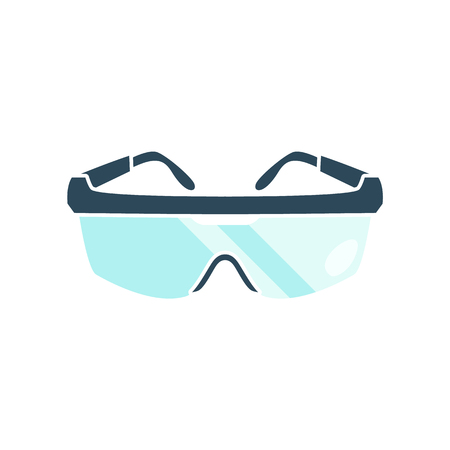 Goggles isolated on white background. Flat styled vector illustration.