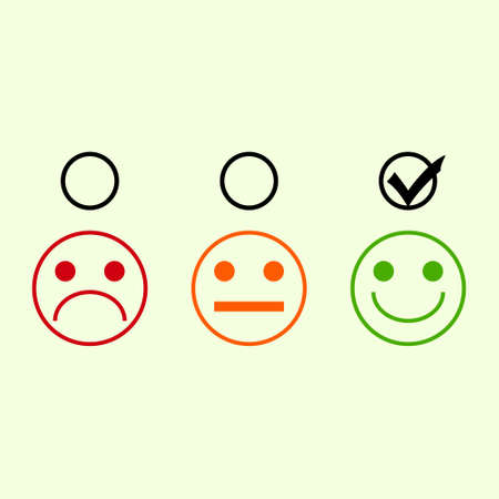Good mood in a bad mood on a white background icon