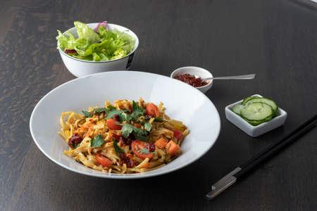 Bami Goreng, Indonesian stir fried noodles Stockfoto