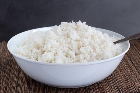 Rice bowl on a dark background