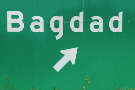 off ramp: Off ramp to Bagdad Florida freeway sign Stock Photo