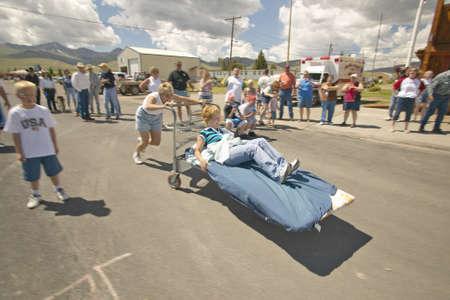Gurney race, in Lima Montana