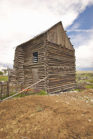 farm structures: Dilapidated farm structures in Lima Montana