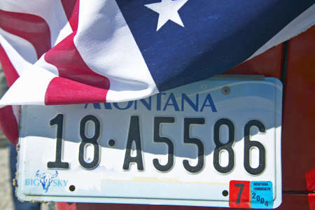 license plate: Vanity License Plate - Montana Editorial
