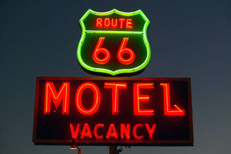 Route 66 Neon sign in Barstow California