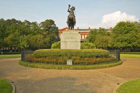 orleans parish: Andrew Jackson Statue &  Jackson Square in New Orleans, Louisiana Editorial