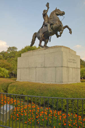 andrew: Andrew Jackson Statue &  Jackson Square in New Orleans, Louisiana Editorial