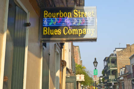 Blues club on Bourbon Street in French Quarter of New Orleans, Louisiana Stock Photo - 19962266