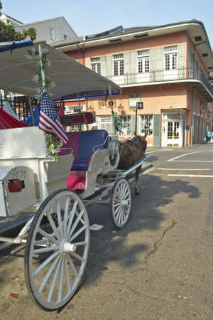 the deep south: Horse Carriage in French Quarter of New Orleans, Louisiana