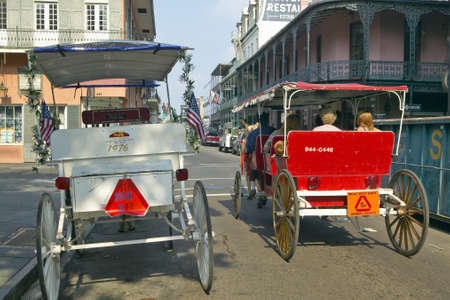 bourbon street: Horse Carriage in French Quarter of New Orleans, Louisiana