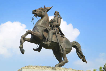 jackson: Andrew Jackson Statue in Jackson Square in New Orleans, Louisiana Editorial