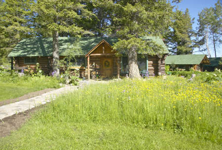 homestead: Lodge of Taft Ranch in Centennial Valley, Lakeview, MT Stock Photo