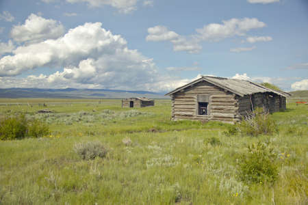 Deserted cabin in Centennial Valley, near Lakeview, MT photo