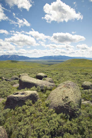 lakeview: Large rocks and mountains in Centennial Valley near Lakeview, MT