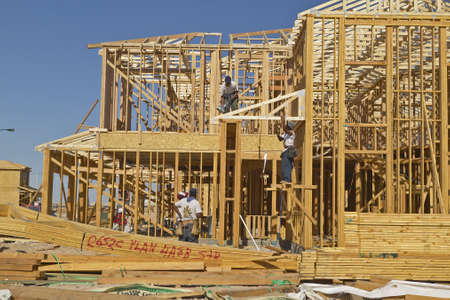 population growth: Desert construction of new homes in Clark County, Las Vegas, NV